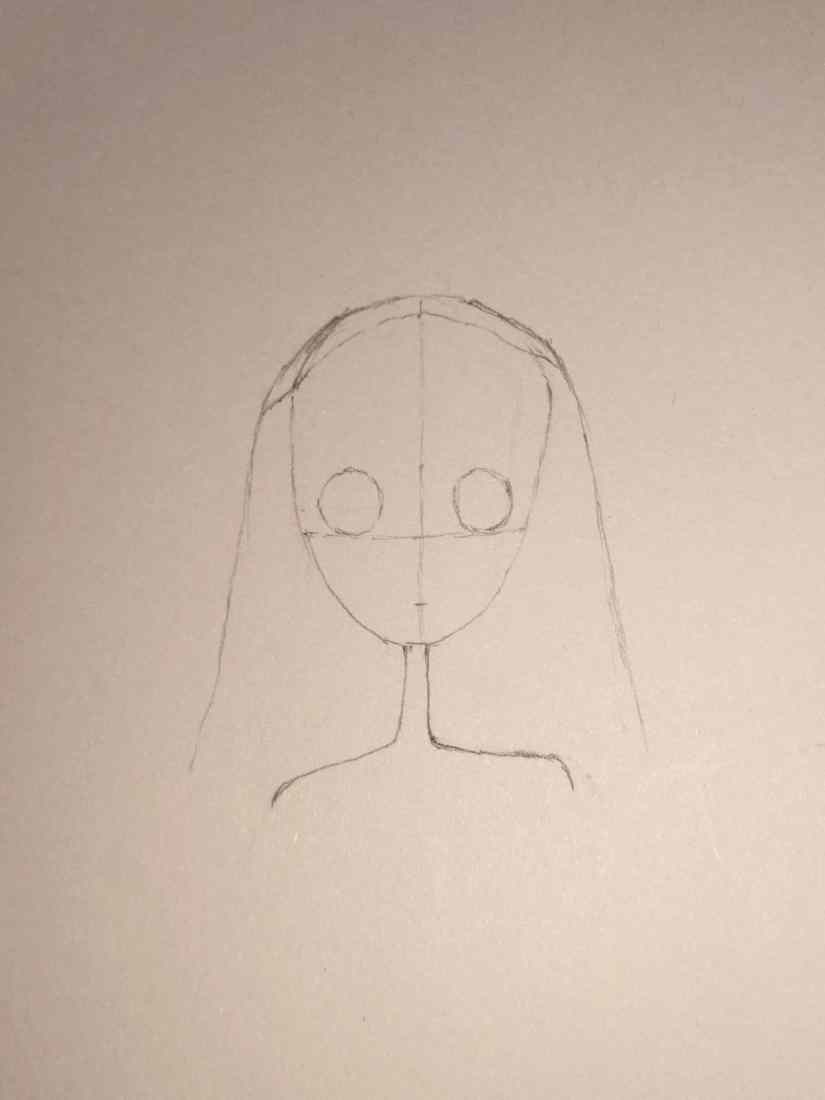 Draw Corpse Bride 2020101702 - How to Draw Corpse Bride (Emily)-Easy Step by Step