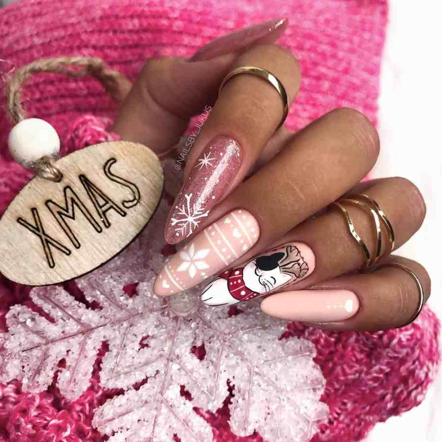 Christmas nails 2020112304 - Gorgeous Christmas Nails 2020 Best Holiday Atmosphere