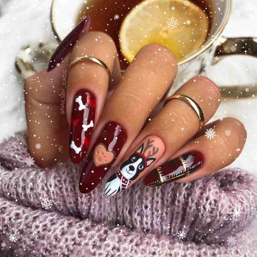 Christmas nails 2020112307 - Gorgeous Christmas Nails 2020 Best Holiday Atmosphere