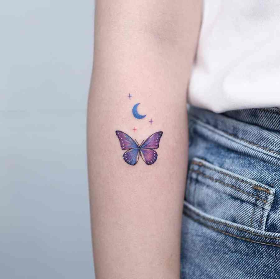 Small Butterfly Tattoo 2020110915 - 20+ Cute Small Butterfly Tattoo Designs and Ideas