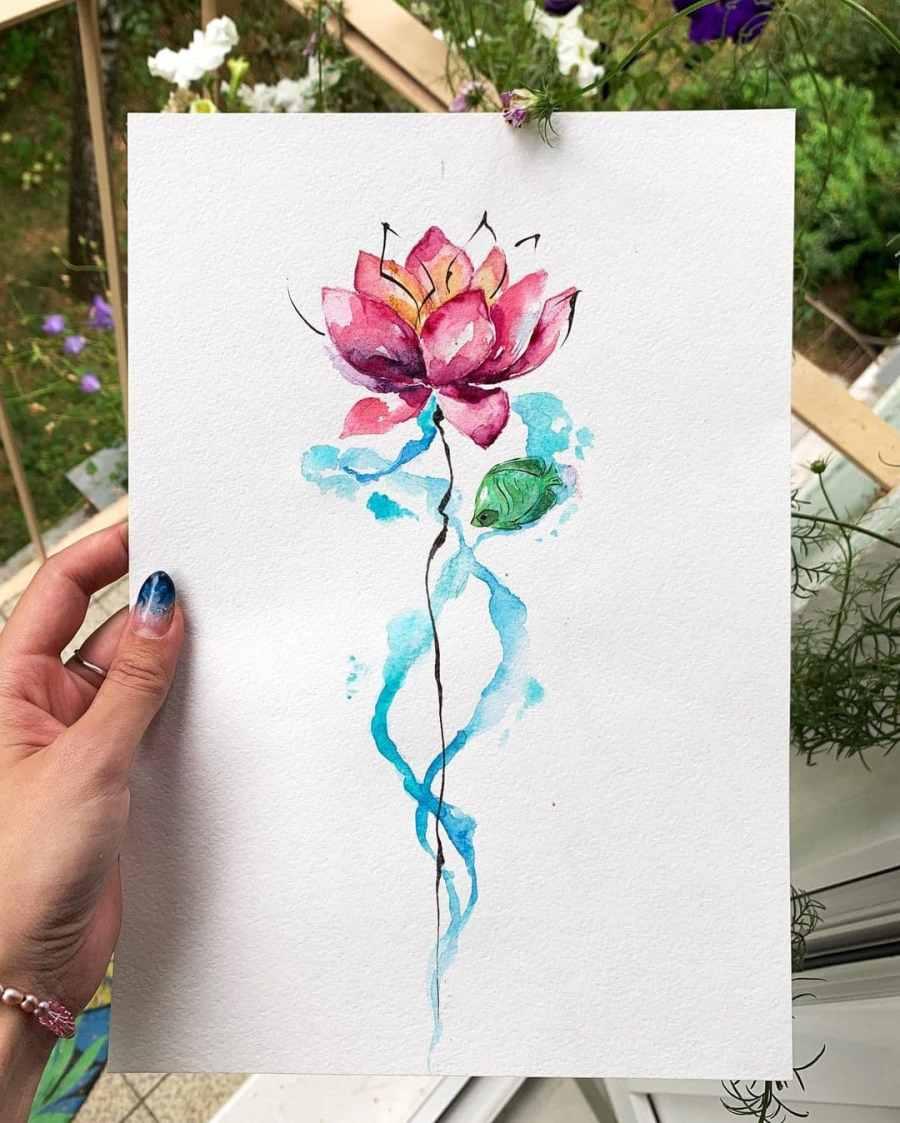 Lotus Tattoo Designs 2020010305 - Mythical Lotus Tattoo Designs Zen Meditation
