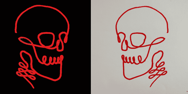 One line drawing skull-20210327