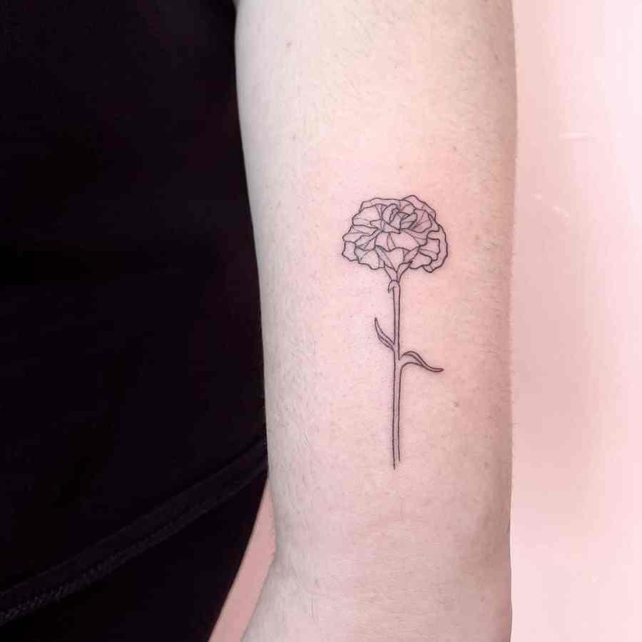 Carnation Tattoo 2021061505 - January Birthday Flower Tattoo - Carnation Tattoo