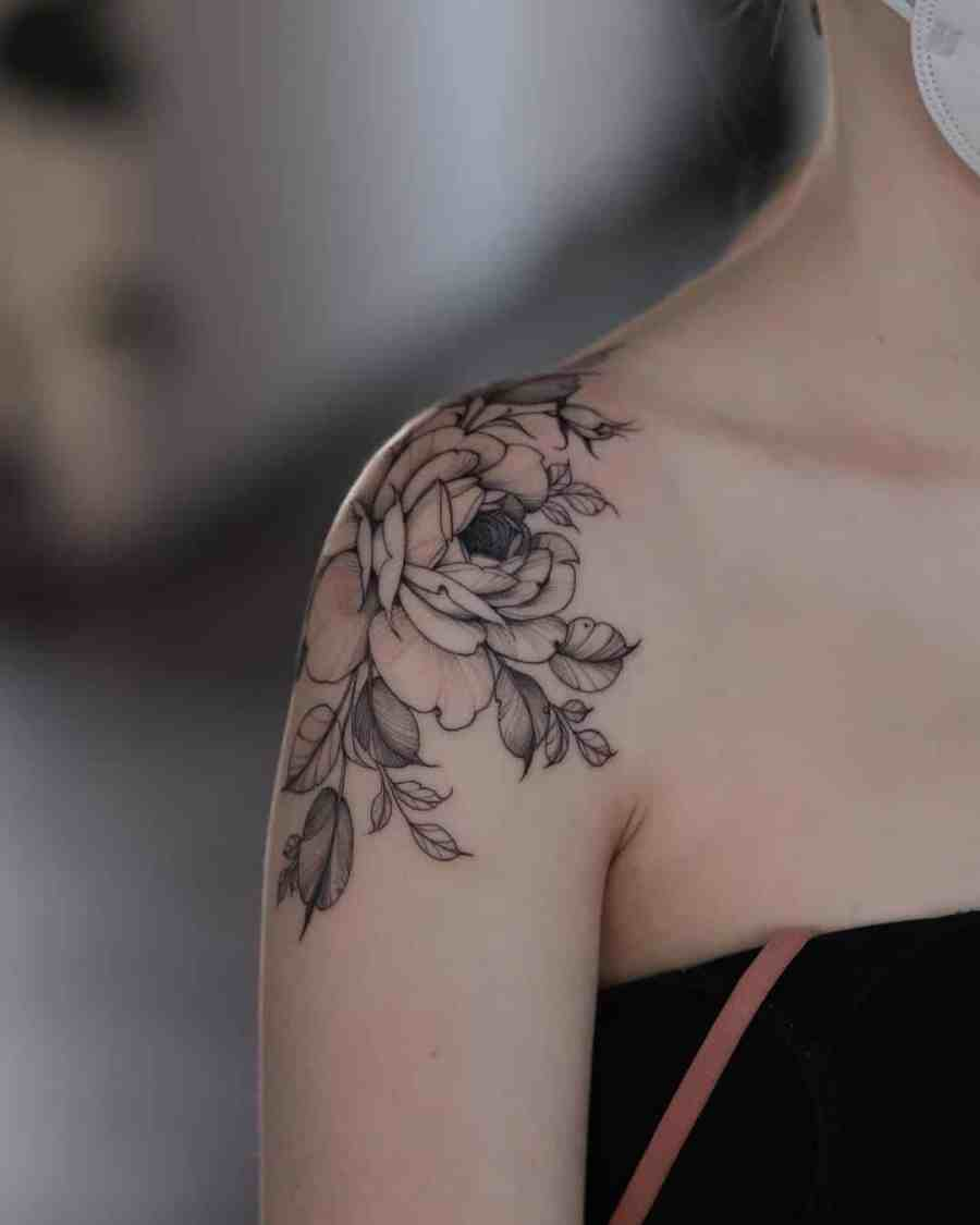 Floral Tattoo 2021061002 - 10+ Floral Tattoo Designs to Give You Warmth