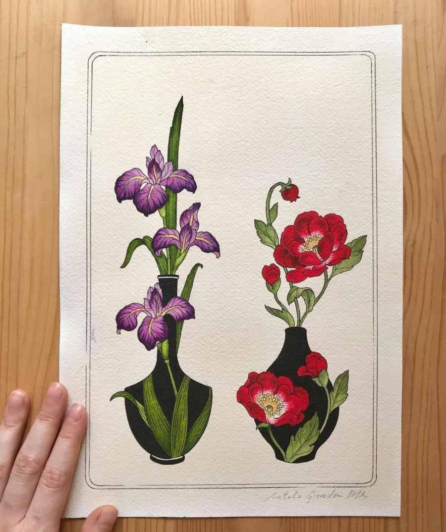 Iris tattoo ideas 2021062104 - February Birth Flower Tattoo - Iris Tattoo Ideas