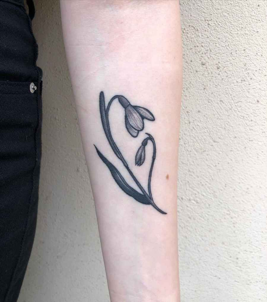 January Birth Flower Tattoo 2021061908 - January Birth Flower Tattoo - Snowdrop Tattoo