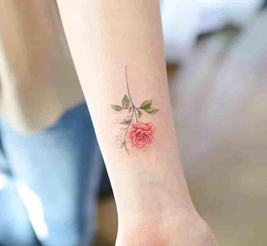 June Birth Flower Tattoos 2021072609 - June Birth Flower Tattoos: Honeysuckle and Rose Tattoo