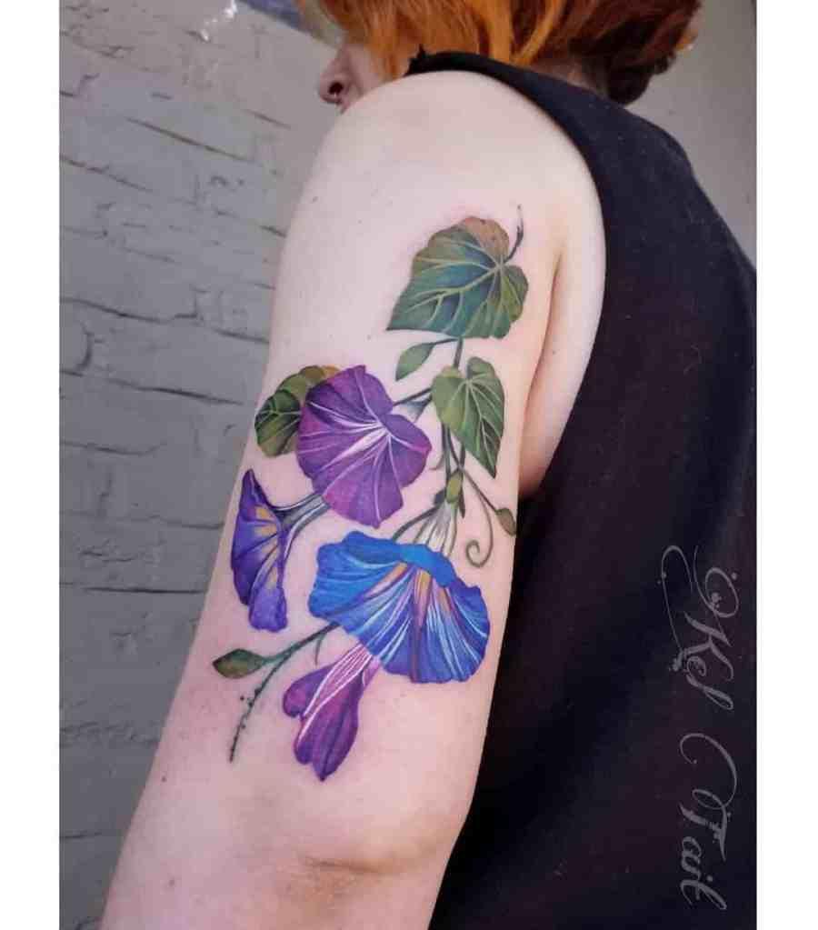 September Birth Flower Tattoos 2021073103 - September Birth Flower Tattoos: Morning Glory Tattoo