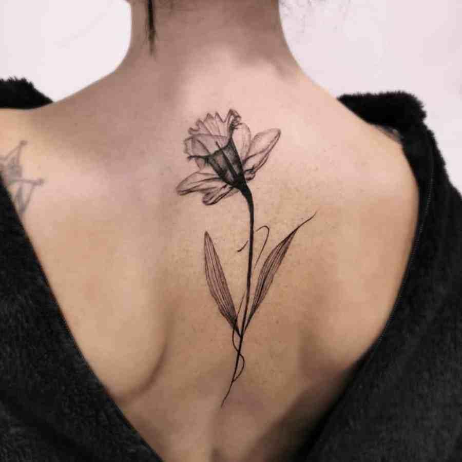 December Birth Flower Tattoos 2021080602 - December Birth Flower Tattoos: Narcissus and Holly Tattoo