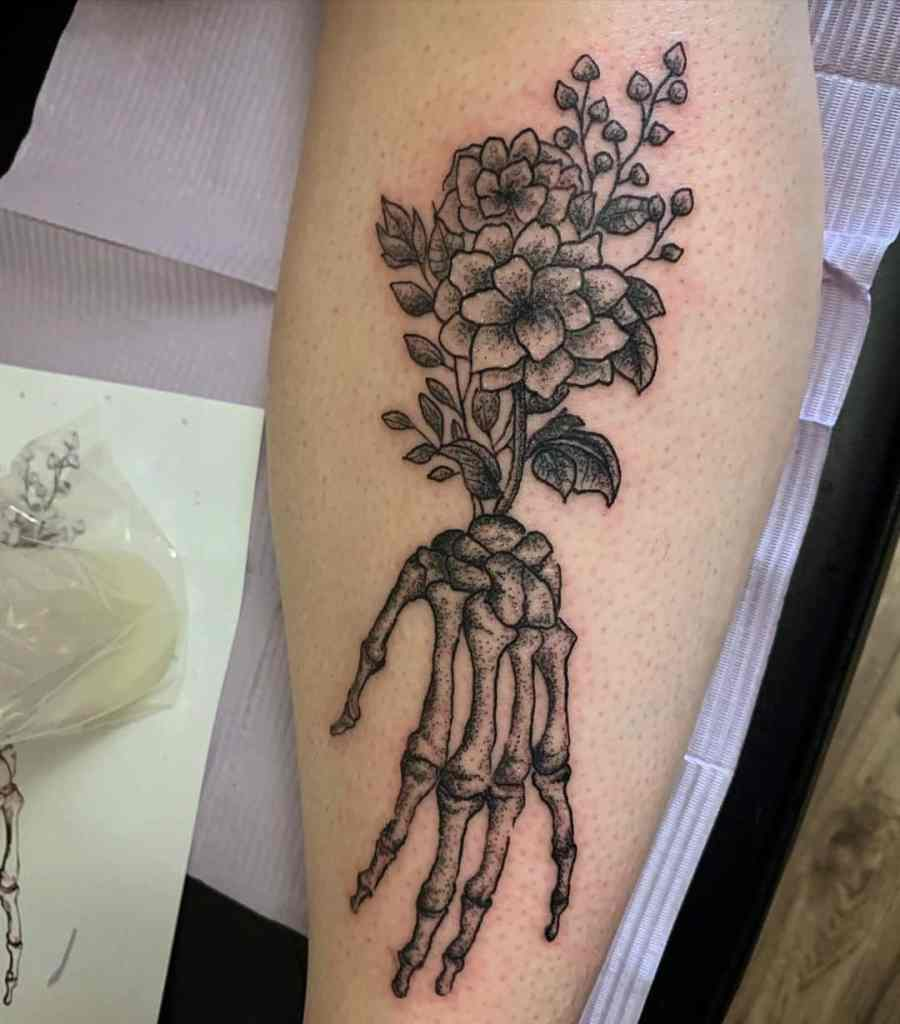Skeleton Hand Tattoo Meaning 2021081306 - Skeleton Hand Tattoo Meaning and Symbolism