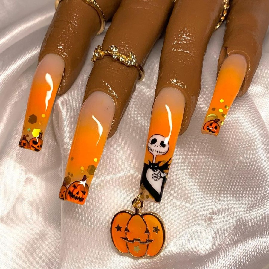 Halloween Nail Art 2021091913 - 20 Halloween Nail Art Designs Easy to Copy