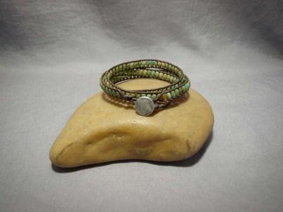 3 wrap bracelet Turquoise Rice