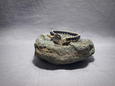 Single wrap bracelet 6mm Blue Goldstone