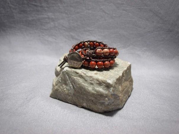 2 wrap bracelet 8mm Red Creek Jasper
