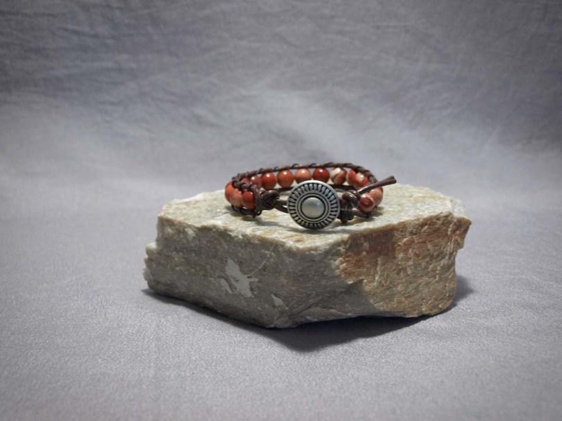 Single wrap bracelet 8mm Red Creek Jasper