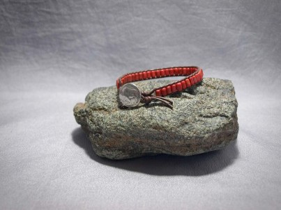 Single wrap bracelet Apple Coral Barrel