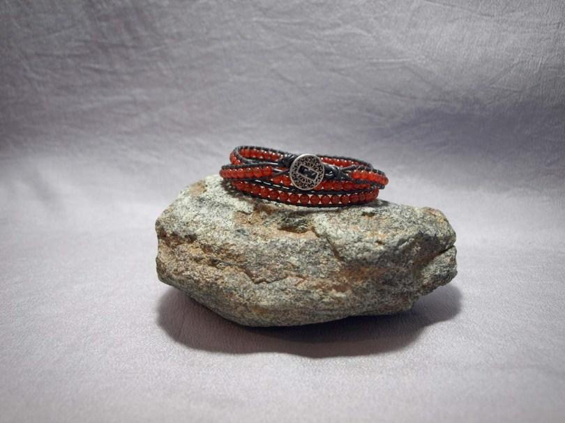 3 wrap bracelet 4mm Carnelian