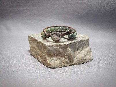 Single wrap bracelet 10mm African Turquoise