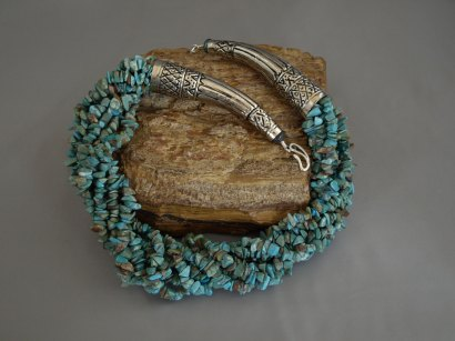 8 Strand US Turquoise chips Necklace 25 in.