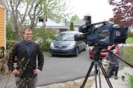 Filming the final segment.
