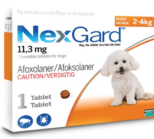 nexgard 2-4kg chewable tablet