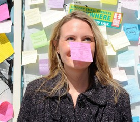 Lowell post-it campaign