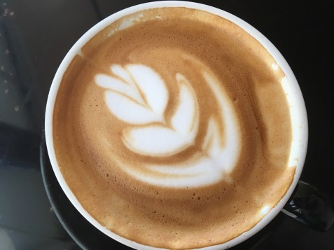 The perfect latte at the Riverwalk cafe in Nashua, NH