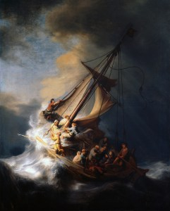 Storm on the Sea of Galilee, Rembrandt, 1633.