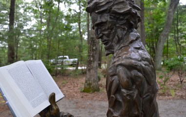 Thoreau statue at Walden.