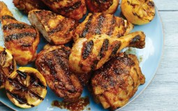Caramelized chicken with vegetables