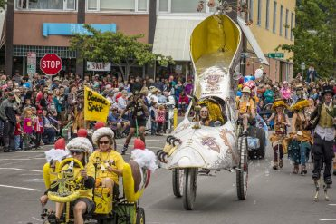 Lowell Kinetic Sculpture Race aims to combine art, engineering and fun. Courtesy photo from annual race in Baltimore, Md.