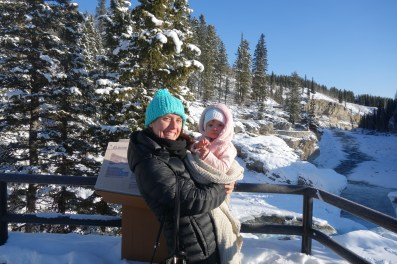 Brrr! A very cold Elbow Falls