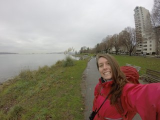 Walking along the coast in Vancouver