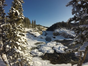 Wintery Elbow Falls