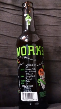 Locally brewed Vancouver 'Steamworks' ale
