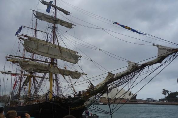 Australia Day at The Rocks - tall ships