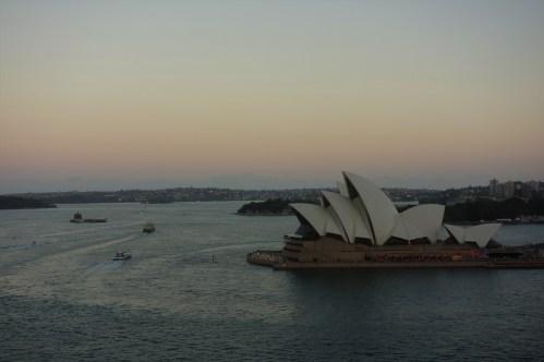 Sunset from the Sydney Harbour Bridge