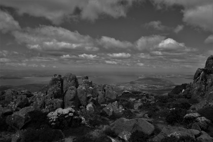 View from atop Mount Wellington