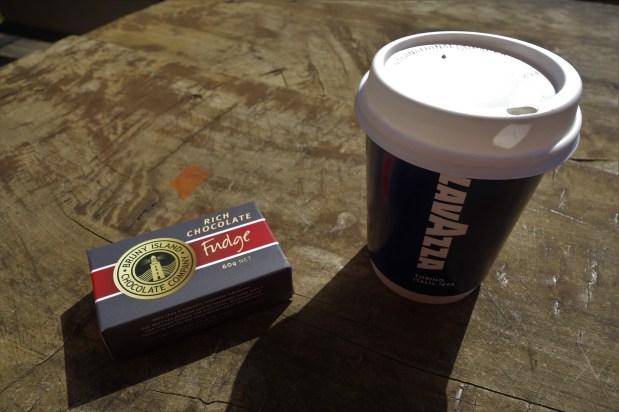 Coffee and local fudge