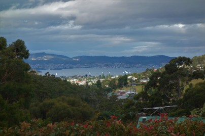 View to Hobart from the descent from Fern Tree