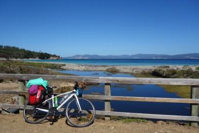 My bike on Maria Island