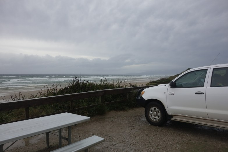 Ocean Beach and Henry the Hilux