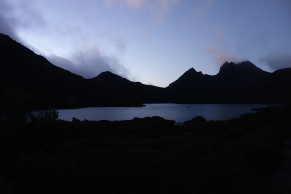 Dawn over Dove Lake and Cradle Mountain