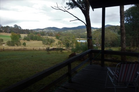 View from my cabin decking