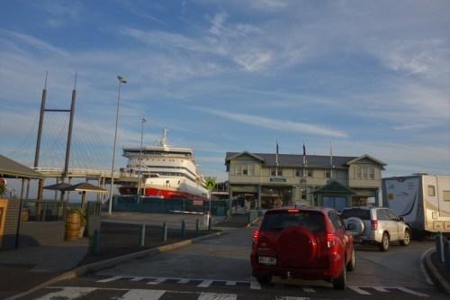Boarding the Spirit of Tasmania ferry back to Tassie