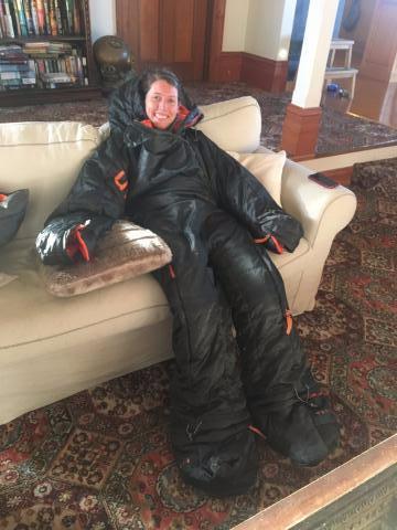 Me in a human-shaped sleeping bag