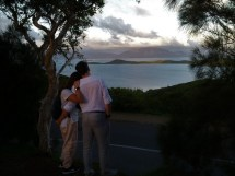 From a lookout in Noumea