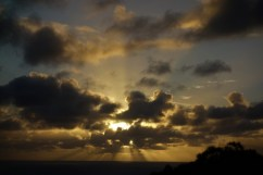 Sunset from a lookout in Noumea