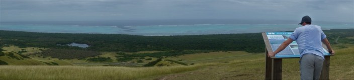 View of the lagoon and shark fault