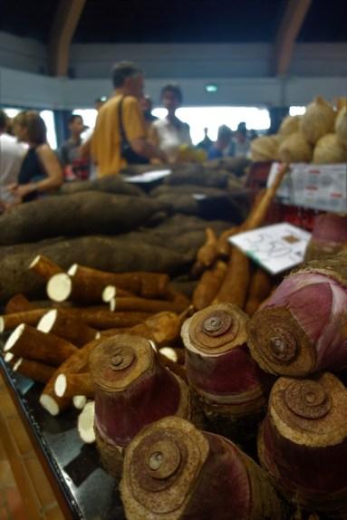 Taros, Maniocs and Yams at the Noumea Market